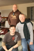"""Chip Coffee hanging out with """"the other"""" paranormal guys Jason and Grant of TAPS"""