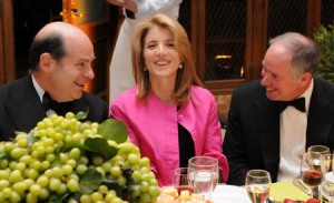 Caroline Kennedy looking lovely at a New York Public Library fundraiser luncheon with Jeffrey Rosen and Stephen Schwarzman